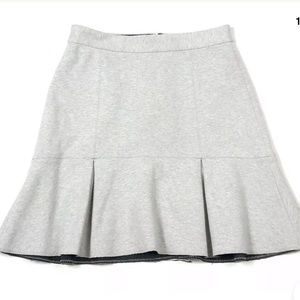 Madewell 0 XS Gray Mini Skirt Ruffled Pleated